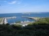 Yachthafen und Düne